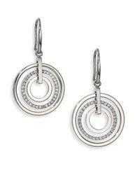 Michael Kors - Metallic Brilliance Statement Circular Pavé Drop Earrings - Lyst