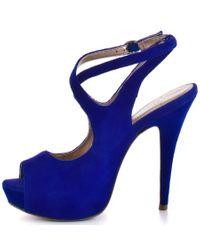 BCBGMAXAZRIA | Blue Ebonee - Cobalt Suede | Lyst