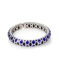 John Hardy | Metallic Legends Naga 12mm Cuff In Silver With Enamel | Lyst