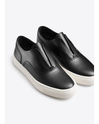 Vince - Black Nelson Leather Sneaker - Lyst