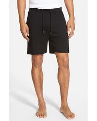 BOSS - Black Cotton Lounge Shorts for Men - Lyst