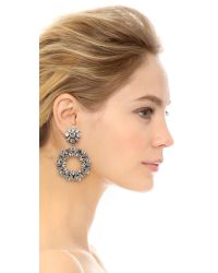 DANNIJO - Metallic Perla Earrings - Clear/ox Silver - Lyst