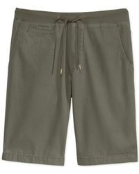 American Rag - Green Solid Knit-waist Shorts for Men - Lyst