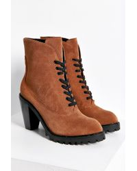 Kelsi Dagger Brooklyn | Brown Berlin Lace-up Heeled Boot | Lyst