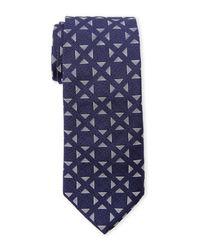 Duchamp | Blue Navy Polugonos Tie for Men | Lyst