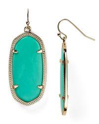 Kendra Scott - Green Elle Earrings - Lyst