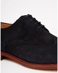 PS by Paul Smith | Blue Nevsky Suede Brogue Derby Shoes | Lyst