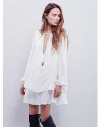 Free People - White Fp Collection Womens Beck Dress - Lyst