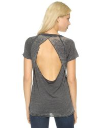 Chaser | Black Open Back Short Sleeve Tee | Lyst