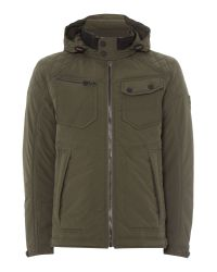 Duck and Cover - Green Mast Padded Hooded Nylon Jacket for Men - Lyst