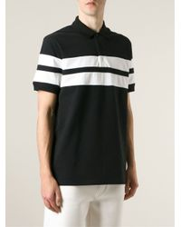 Givenchy - Black Striped Polo Shirt for Men - Lyst