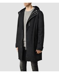 AllSaints - Black Ren Parka for Men - Lyst
