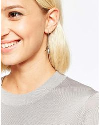 SELECTED | Metallic Courtney Through & Through Marble Ball Back Earrings | Lyst