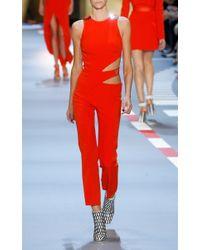 Mugler | Red Asymmetrical Waist Cutout Jumpsuit | Lyst