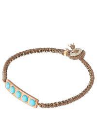 Brooke Gregson - Blue Gold Turquoise Bar Bracelet - Lyst