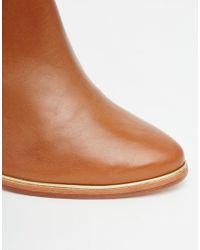 Ted Baker - Brown Lorca 2 Tan Leather Heeled Ankle Boots - Lyst