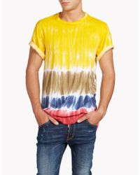 DSquared² - Yellow Trapezio Fit T-shirt for Men - Lyst