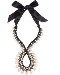 Lanvin - Black Circle Strand Necklace - Lyst