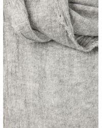 Faliero Sarti - Gray Frayed Scarf - Lyst