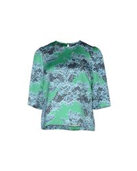 Jonathan Saunders - Green Blouse - Lyst