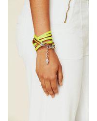 Sara Designs - Yellow Neon Watch Bracelet - Lyst