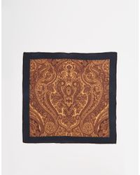 SELECTED - Black Pocket Square for Men - Lyst