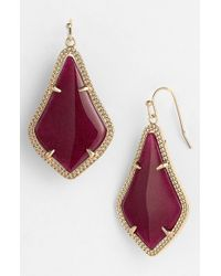 Kendra Scott | Purple 'alex' Drop Earrings - Maroon Jade | Lyst
