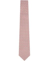 Ferragamo - Red Interlock Doves Silk Tie for Men - Lyst