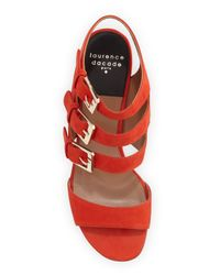 Laurence Dacade - Red Klio Leather Sandals - Lyst