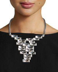 Lafayette 148 New York - Metallic Crystal Cluster Bib Necklace - Lyst