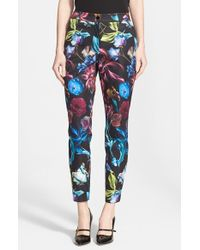 4ccb4189c9bb Lyst - Ted Baker  kaify  Floral Print Trousers in Black