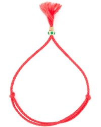 Luis Morais - Red Clover Rounded Tassel Bracelet - Lyst