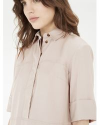 Warehouse - Natural Casual Shirt Dress - Lyst