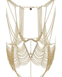 BCBGMAXAZRIA | Metallic Cutout Body Chain | Lyst