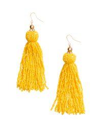 H&M | Yellow Long Earrings | Lyst
