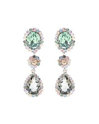 Miu Miu - Multicolor Clip-On Crystal Earrings - Lyst