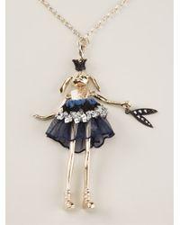 Servane Gaxotte - Metallic Rabbit Doll Necklace - Lyst