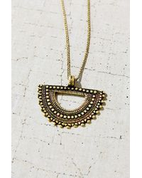 Urban Outfitters - Metallic Medallion Necklace - Lyst