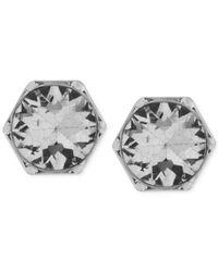 Kenneth Cole | Metallic Silver-tone Crystal Stud Earrings | Lyst