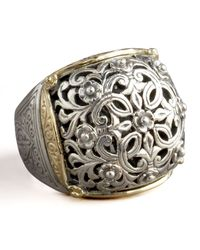 Konstantino | Metallic Silver & Gold Dome Ring | Lyst