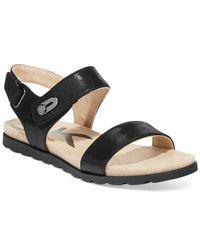 Anne Klein | Black Viewer Two-Piece Flat Sandals | Lyst