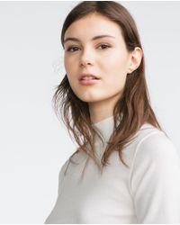 Zara | Natural Basic Top | Lyst