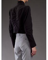 Ann Demeulemeester - Black Cropped Jacket - Lyst