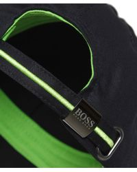 BOSS Green | Black Logo Cap for Men | Lyst