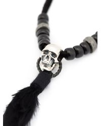 Christian Dada | Black Feather Pendant Necklace | Lyst