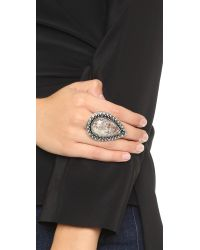 Samantha Wills - Gray Bohemian Bardot Ring - Antique Silver/grey - Lyst