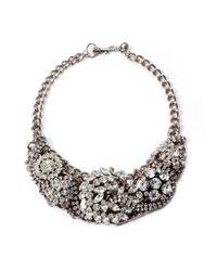 Lulu Frost | Metallic Silvertone Collage Necklace | Lyst