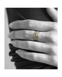 Catbird - Metallic Alphabet Ring 14k Gold - Lyst