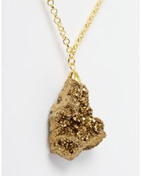 Only Child - Metallic Nly Child Golden Nugget Pendant Necklace - Lyst