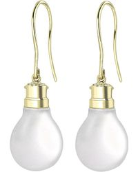 Theo Fennell | Metallic 18ct Gold Halogen Light Bulb Earrings | Lyst